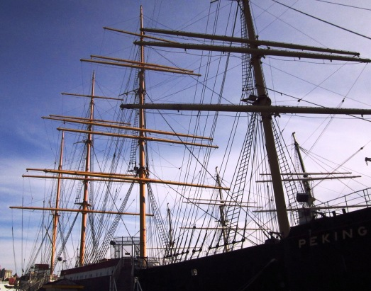 Masts in New York Harbor