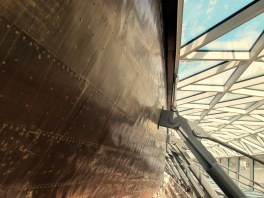 You get to check out the underside of the ship as well.