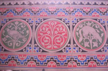 Even the floor is highly decorated