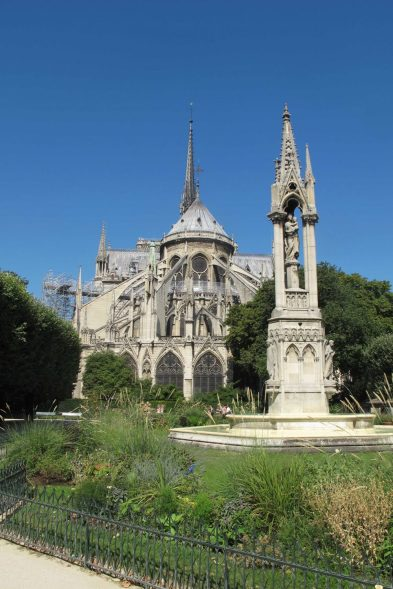 Back side of Notre Dame