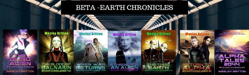 Seven book covers from Beta-Earth Chronicles